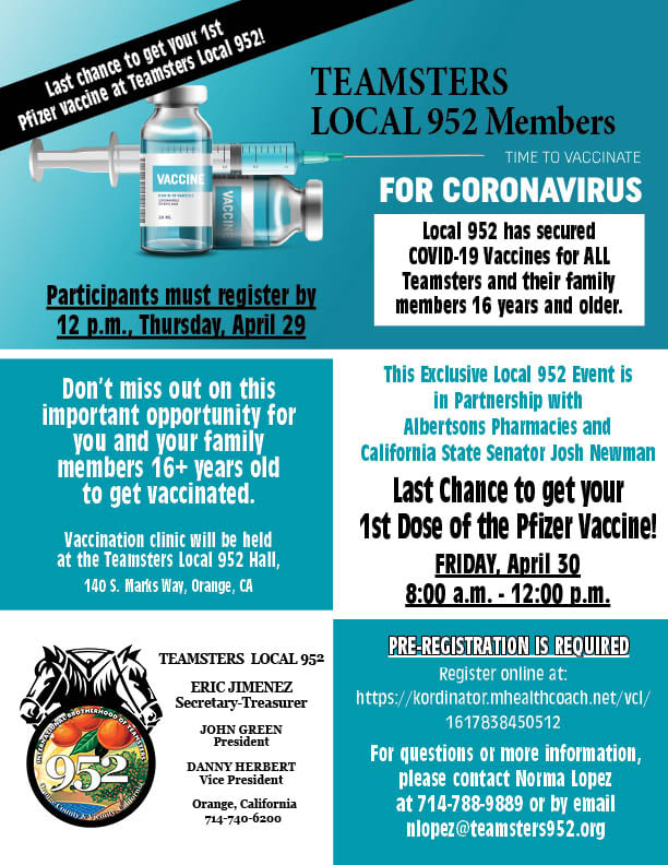 It's Time to Vaccinate flier