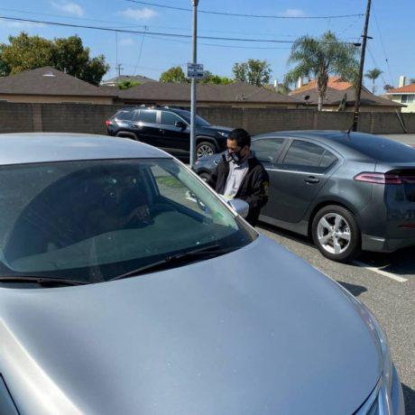 Man next to car