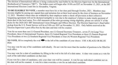 IBT 2021 Election Notice